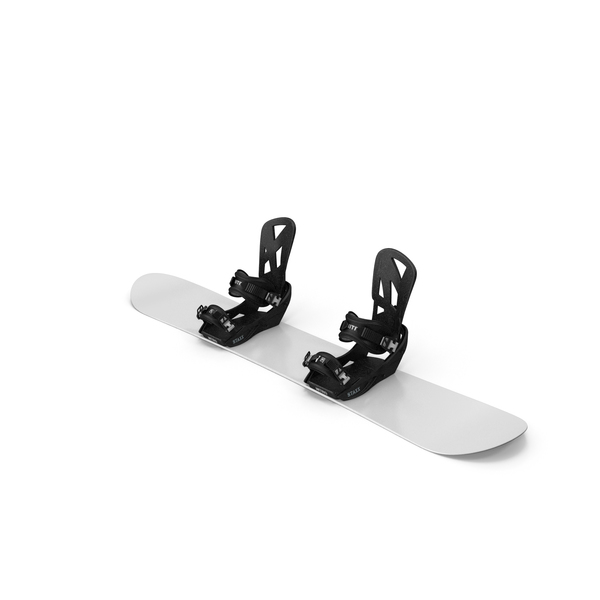 Snowboard with Staxx Bindings PNG & PSD Images