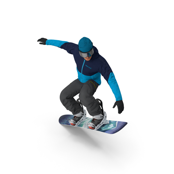 Man: Snowboarder Jumping PNG & PSD Images