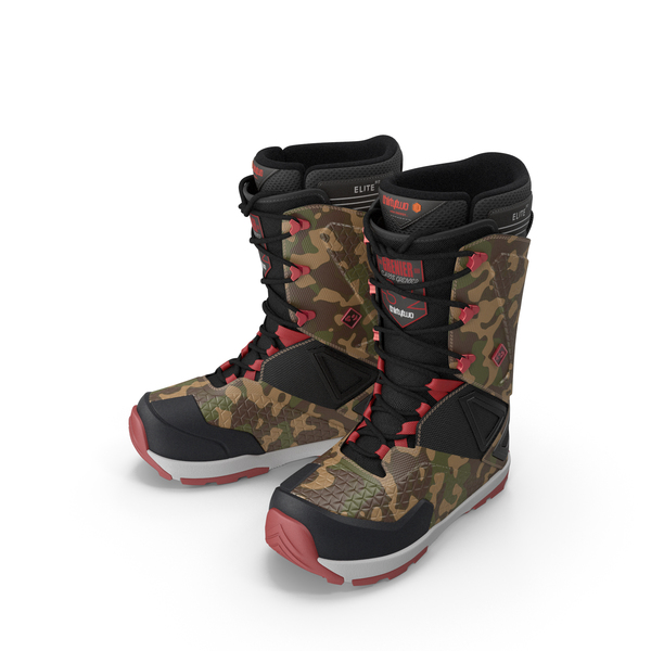 Snow: Snowboarding Boots Camo Forest PNG & PSD Images