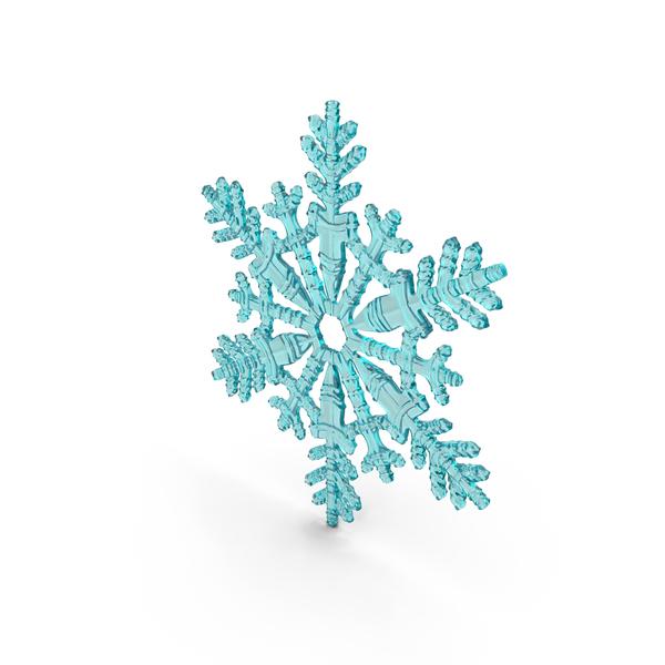 Snowflake Cyan PNG & PSD Images