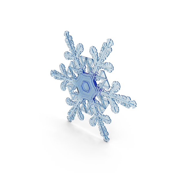 Snowflake Deep Blue PNG & PSD Images