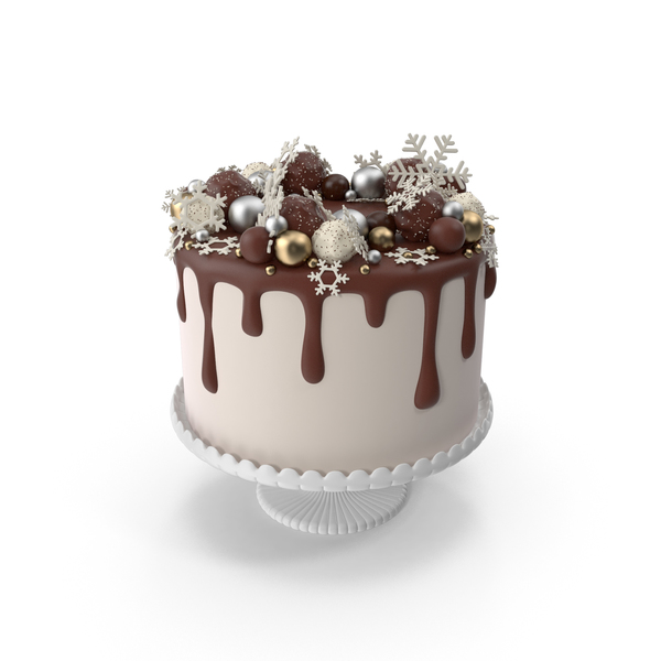 Snowflake Drip Cake PNG & PSD Images