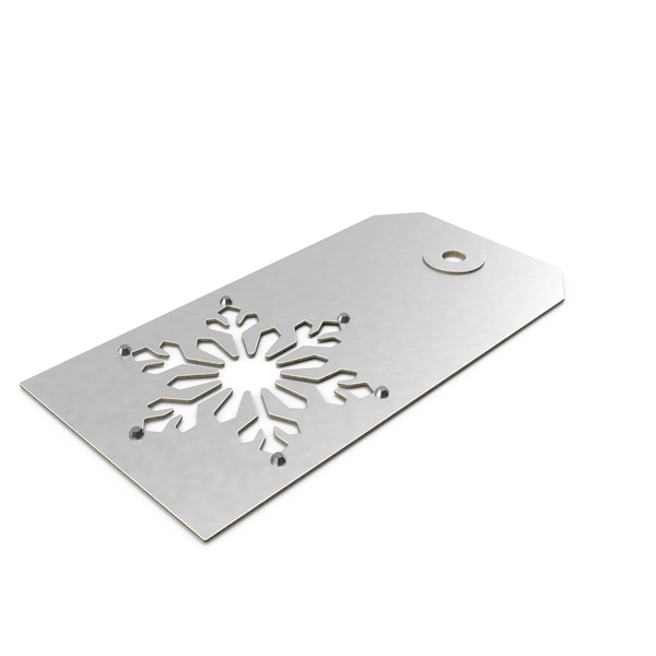 Snowflake Gift Label PNG & PSD Images