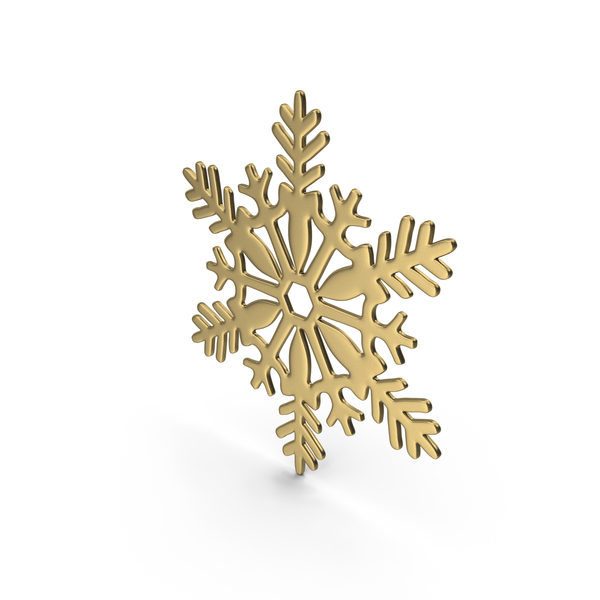 Snowflake Gold PNG & PSD Images
