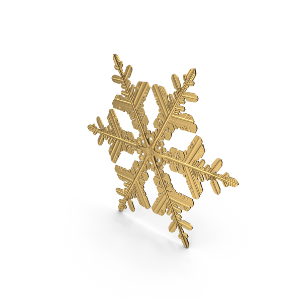 Snowflake Golden PNG & PSD Images