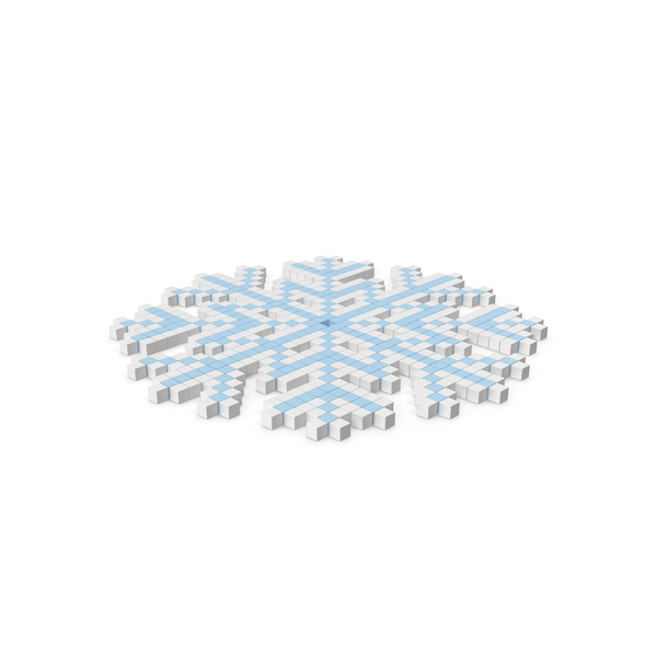 Snowflake Pixelated Icon PNG & PSD Images