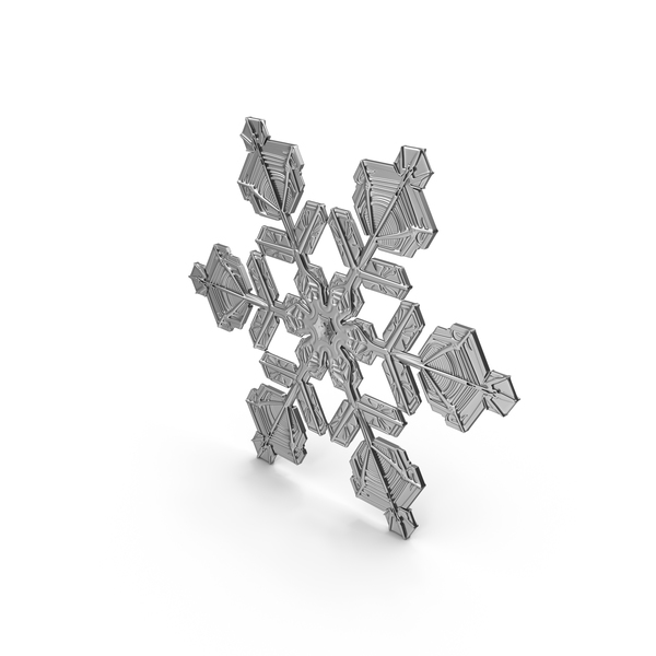 Snowflake Silver PNG & PSD Images
