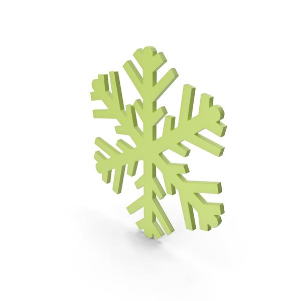 Snowflake: Snowflakes Green Symbol PNG & PSD Images