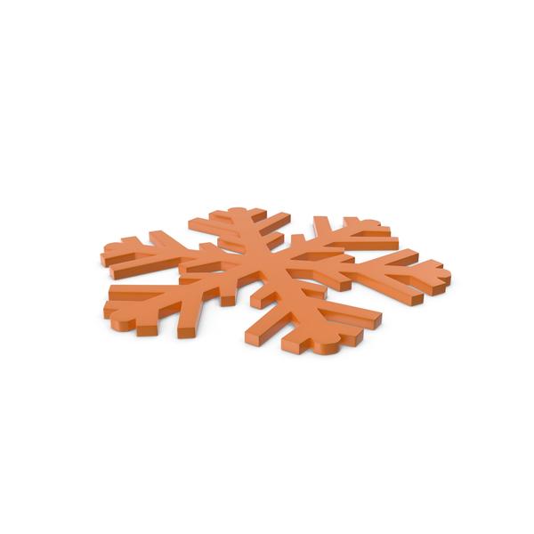 Snowflake: Snowflakes Orange Symbol PNG & PSD Images