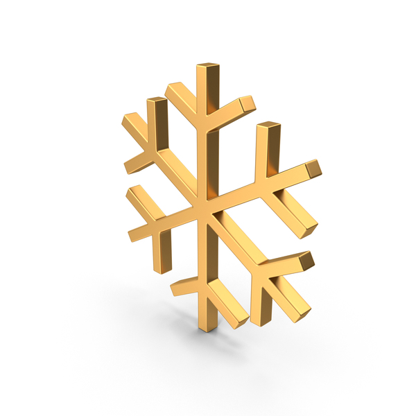 Snowflakes Symbol Gold PNG & PSD Images