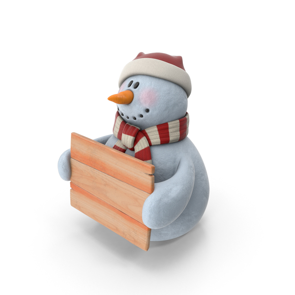 Snowman In Santa Hat PNG & PSD Images