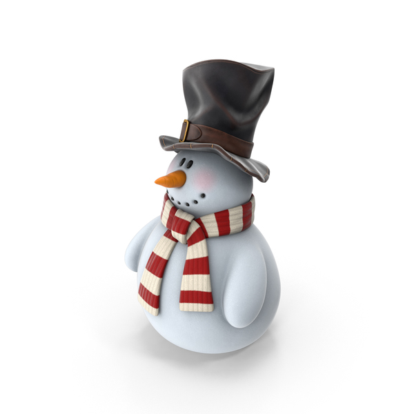 Snowman In Top Hat PNG & PSD Images