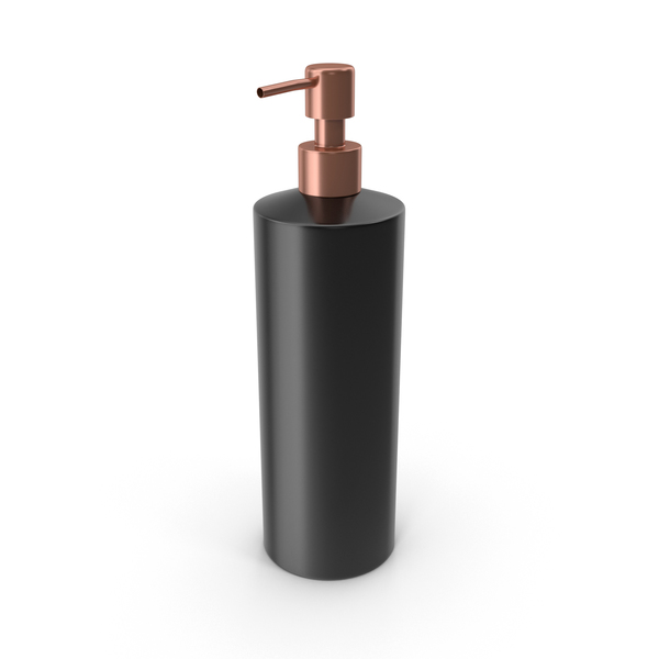 Liquid: Soap Dispenser Black PNG & PSD Images
