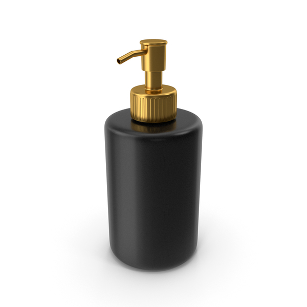 Soap Dispenser Gold Black PNG & PSD Images