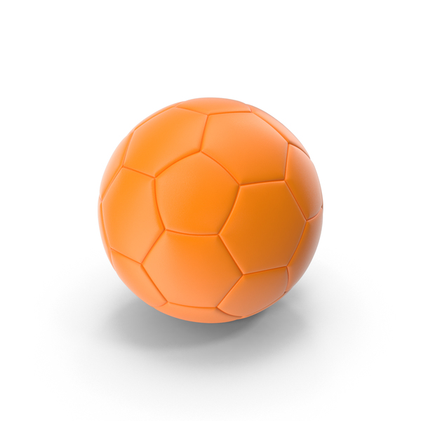 Soccer Ball Orange PNG & PSD Images
