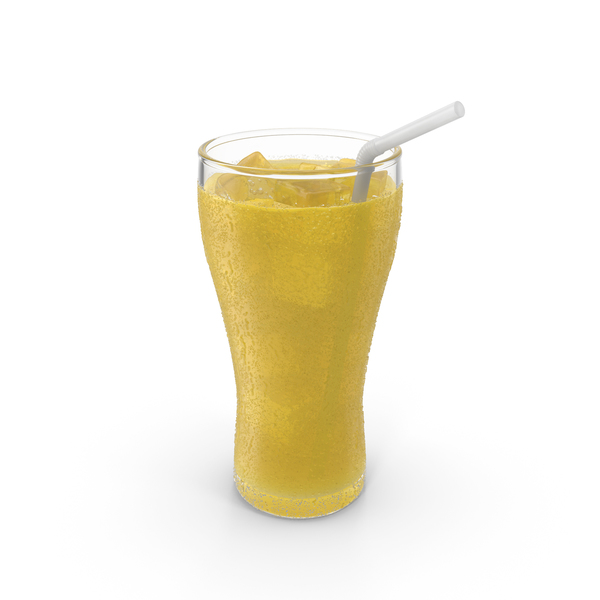 Soda Pineapple with Droplets PNG & PSD Images