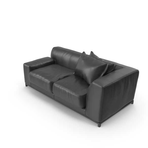Leather: Sofa Black PNG & PSD Images