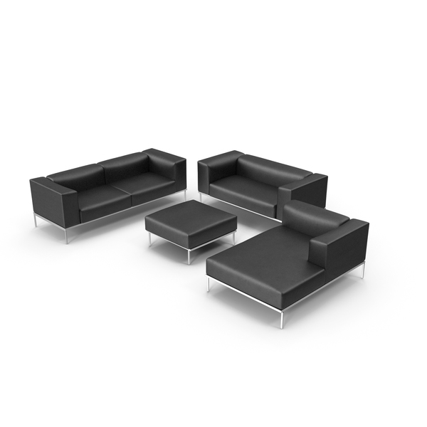 Sofa & Chair Set PNG & PSD Images