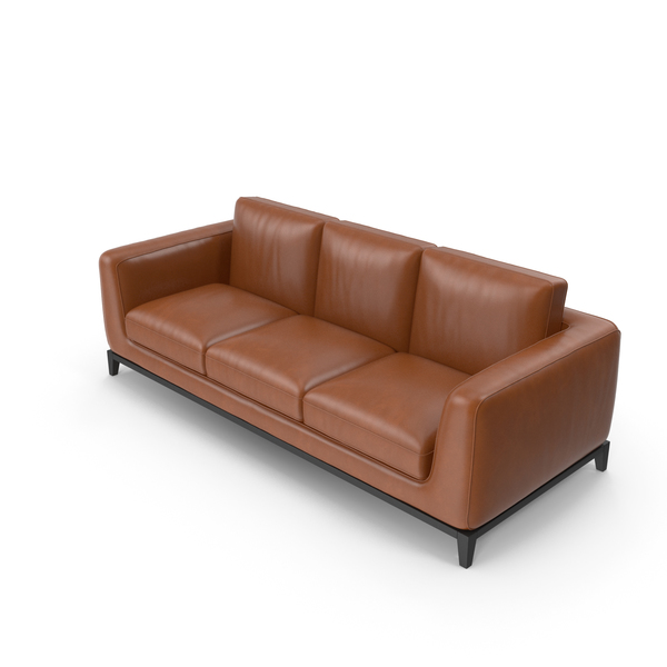 Sofa Light Brown Leather PNG & PSD Images