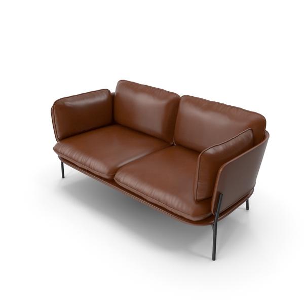 Sofa V43 Brown PNG & PSD Images