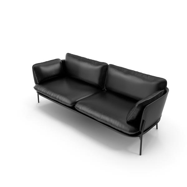 Sofa V44 Black PNG & PSD Images