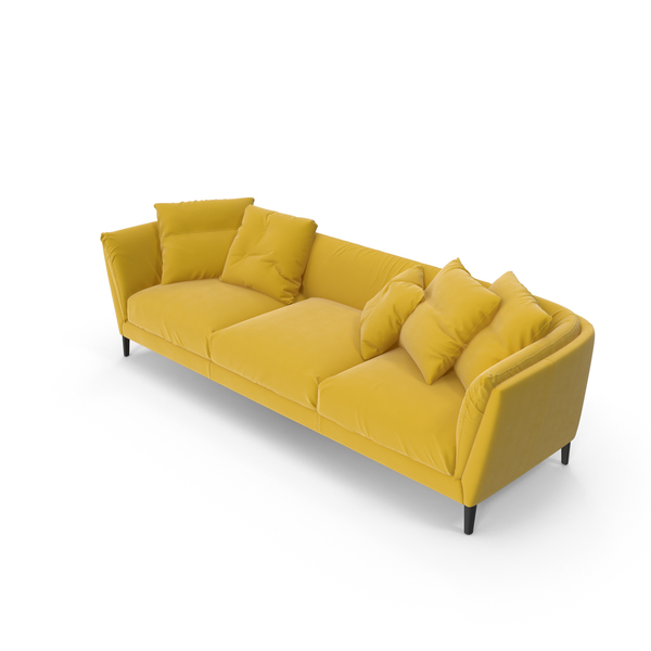 Sofa Yellow PNG & PSD Images
