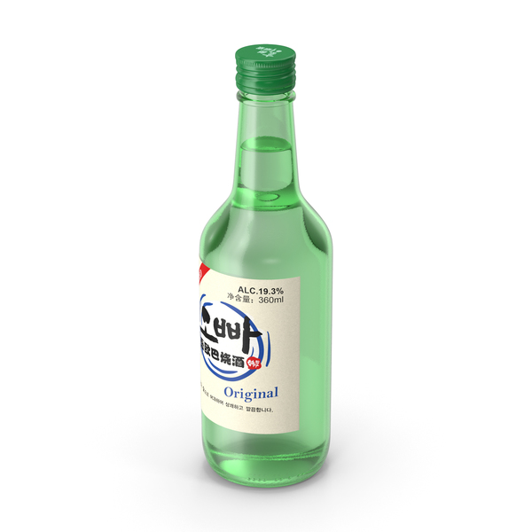 Spirits: Soju Original Alcoholic Beverage PNG & PSD Images