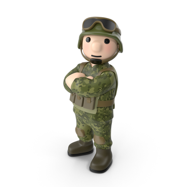Soldier Crossed Arms PNG & PSD Images