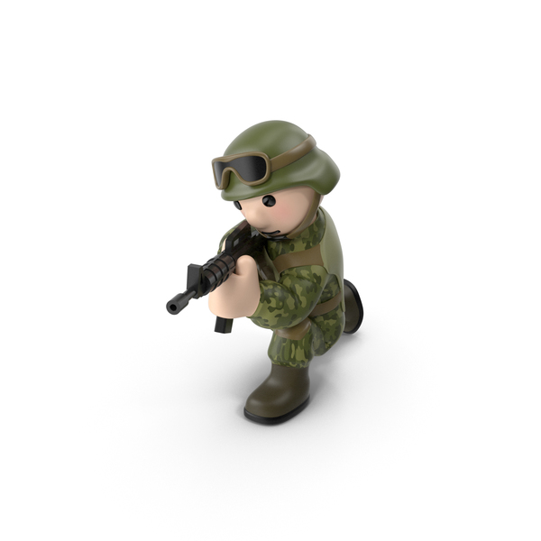 Soldier Shooting from Knee PNG & PSD Images
