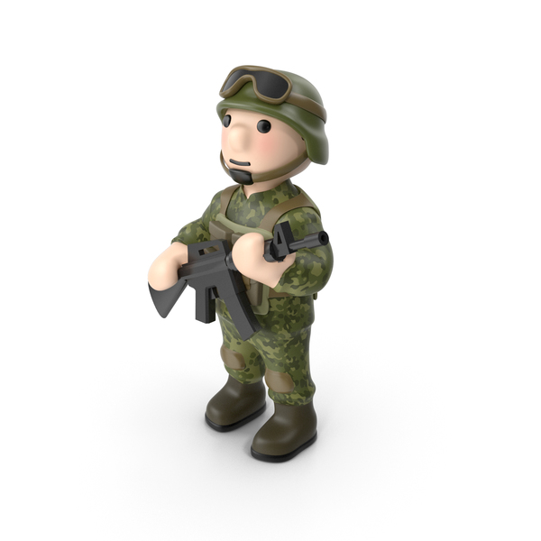 Soldier With Gun PNG & PSD Images