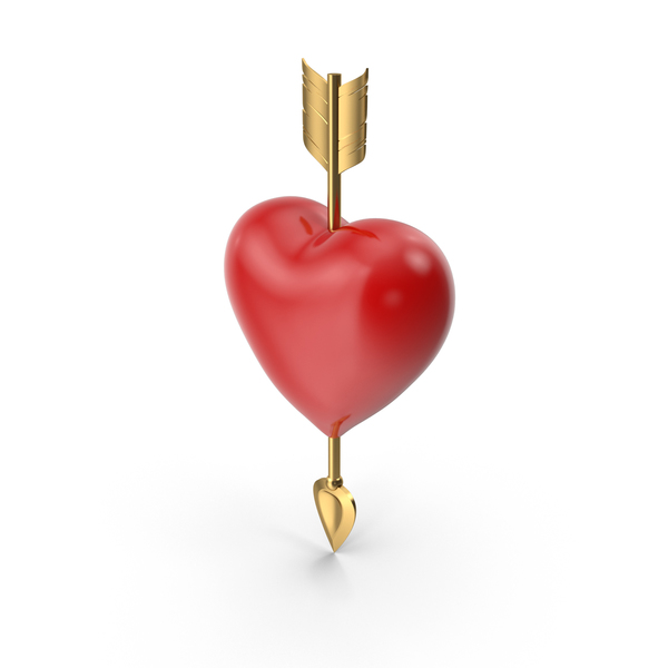 Solid Heart with Arrow PNG & PSD Images