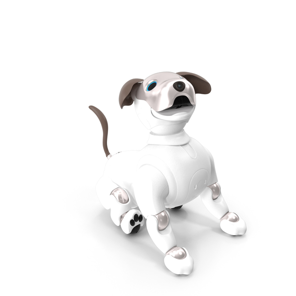 Toy Dog: Sony Aibo 2017 Sitting Pose PNG & PSD Images