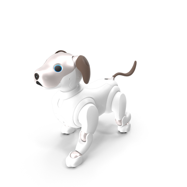 Toy Dog: Sony Aibo 2017 Walking Pose PNG & PSD Images