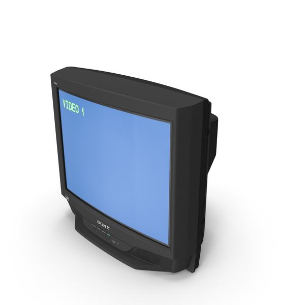 Sony Trinitron KV 27S46 Retro CRT TV PNG & PSD Images