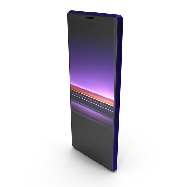 Sony Xperia 1 Purple PNG & PSD Images