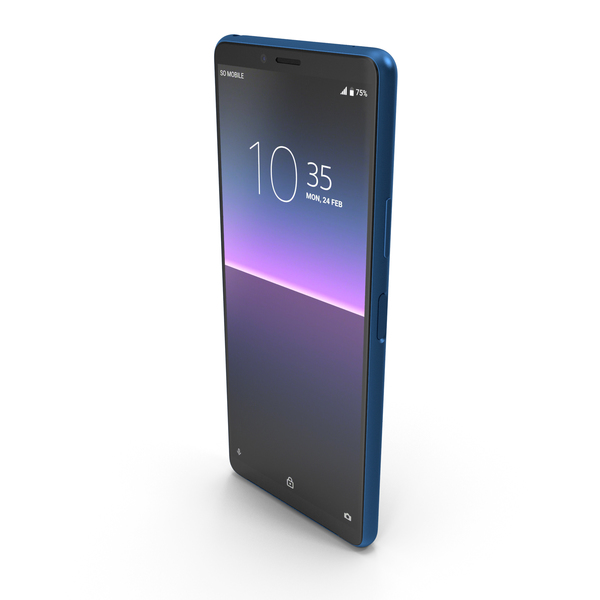 Sony Xperia 10 Mk. II Blue PNG & PSD Images
