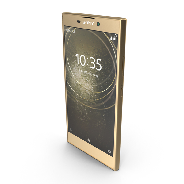 Sony Xperia L2 Gold PNG & PSD Images