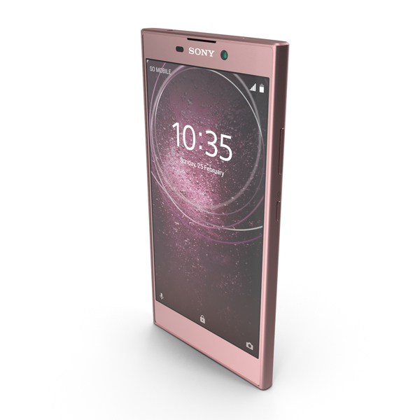 Smartphone: Sony Xperia L2 Pink PNG & PSD Images