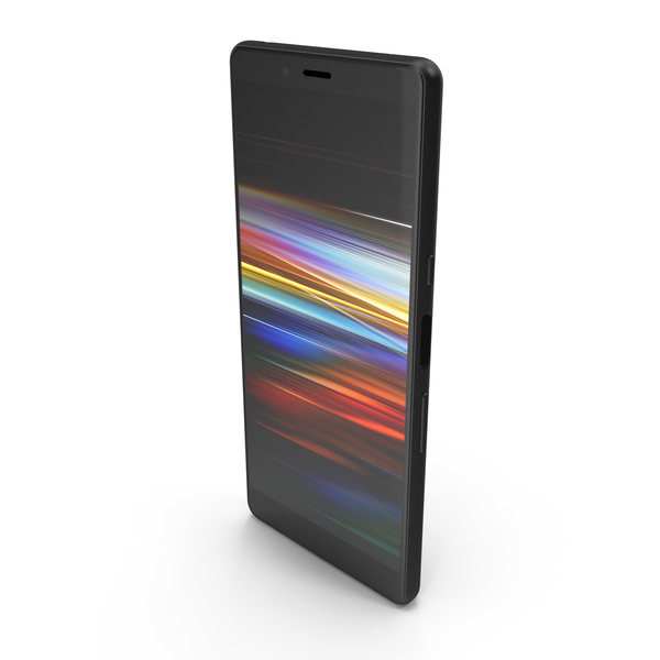 Sony Xperia L3 Black PNG & PSD Images