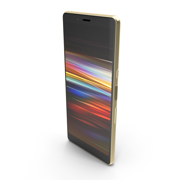 Sony Xperia L3 Gold PNG & PSD Images