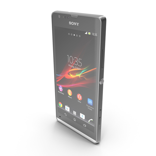 Smartphone: Sony Xperia SP Black PNG & PSD Images