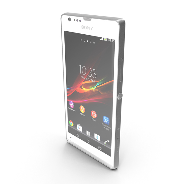 Sony Xperia SP White PNG & PSD Images