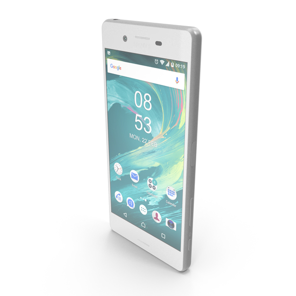 Smartphone: Sony Xperia X White PNG & PSD Images