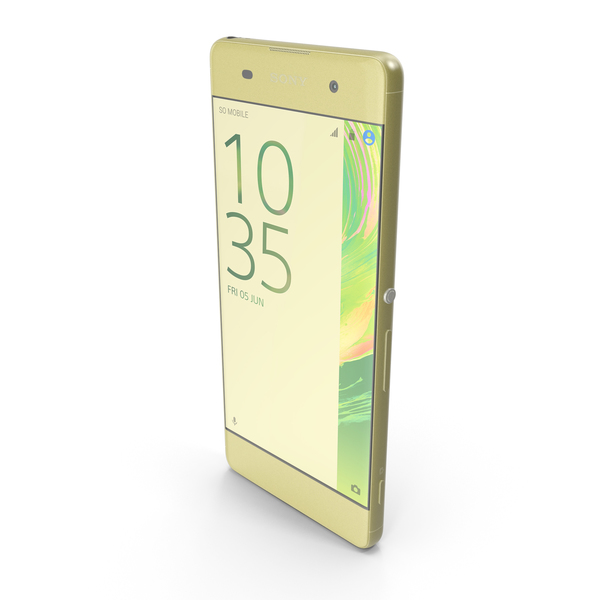 Sony Xperia XA Lime Gold PNG & PSD Images