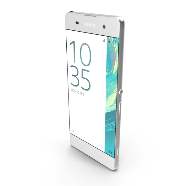 Smartphone: Sony Xperia XA White PNG & PSD Images