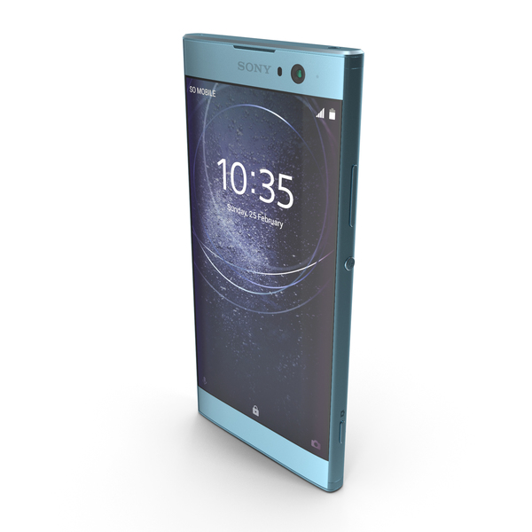 Sony Xperia XA2 Blue PNG & PSD Images