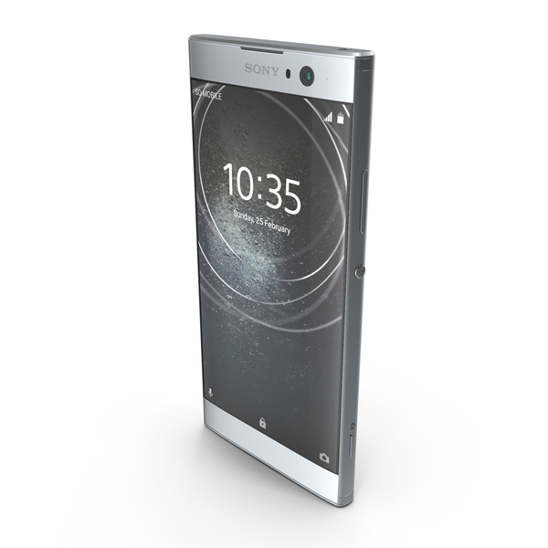 Sony Xperia XA2 Silver PNG & PSD Images