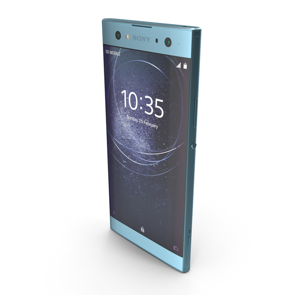 Sony Xperia XA2 Ultra Blue PNG & PSD Images