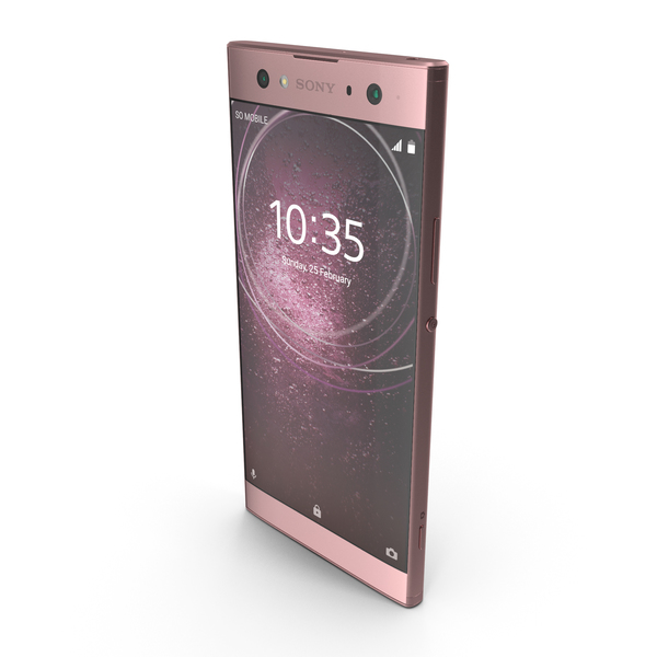 Smartphone: Sony Xperia XA2 Ultra Pink PNG & PSD Images