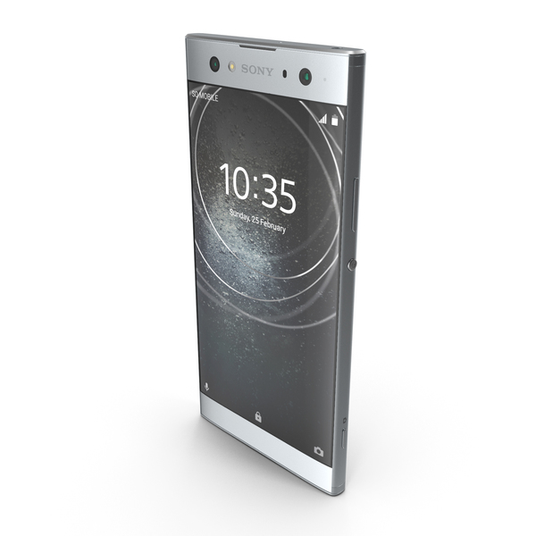 Sony Xperia XA2 Ultra Silver PNG & PSD Images